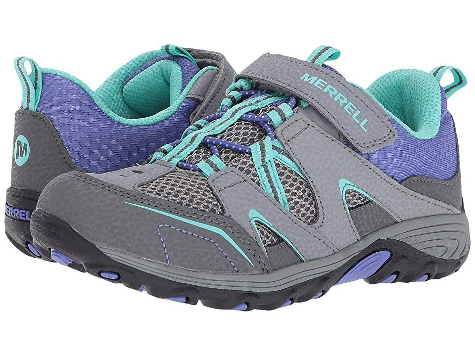 Merrell Boy/'s Trail Chaser Grey//Blue Hiking Athletic Shoes Brand New