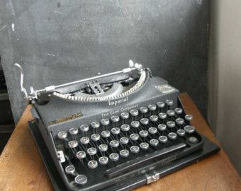 1930s manual typewriter,the  Imperial good companion in good condition,fully working,new ribbon fitted,Free UK postage