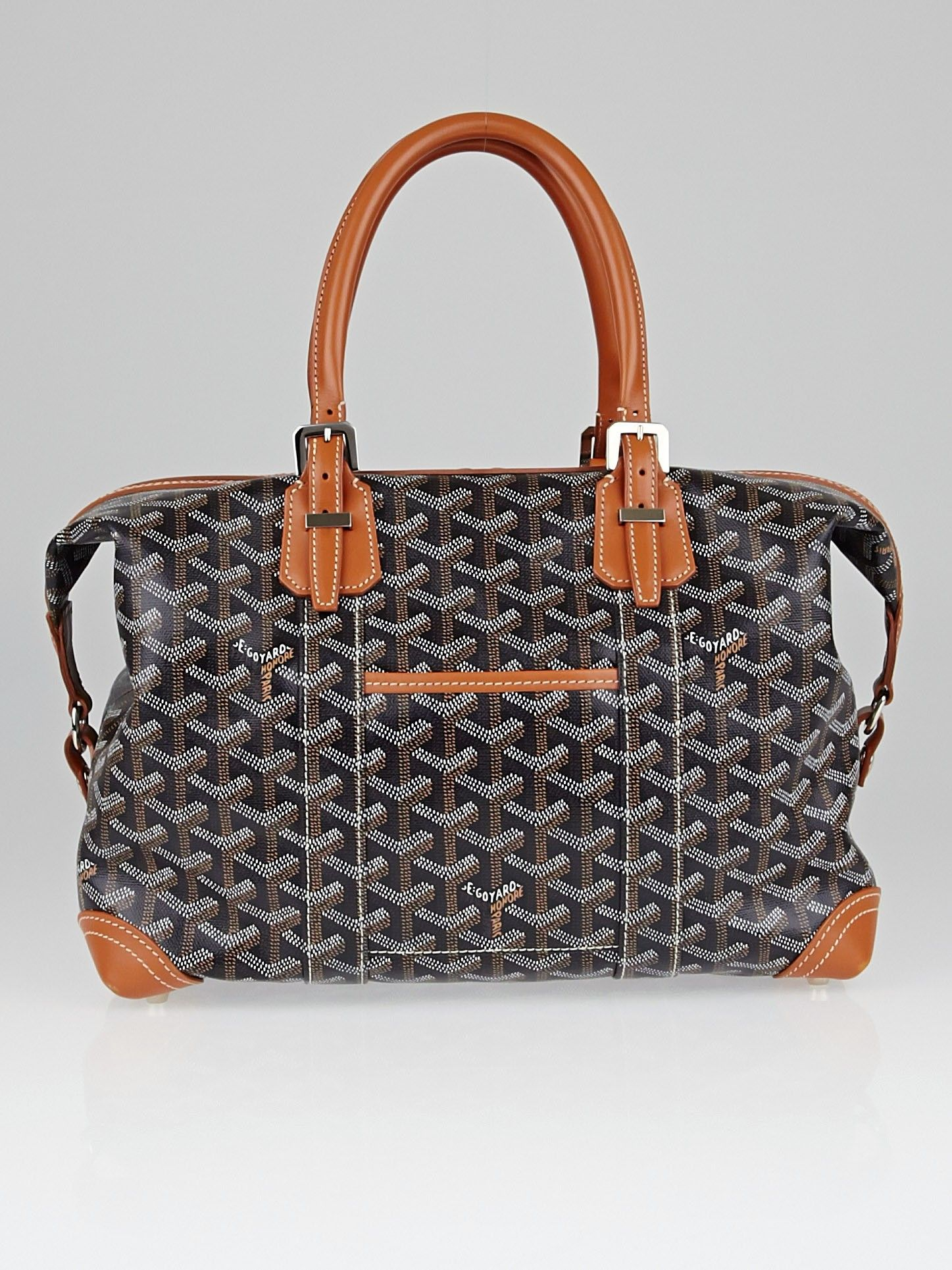 Goyard Black Chevron Print Coated Canvas Boeing 30 Bag  6b6a096ad4e55