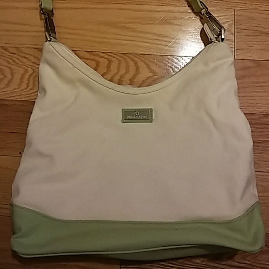 Mint Green And Cream Purse