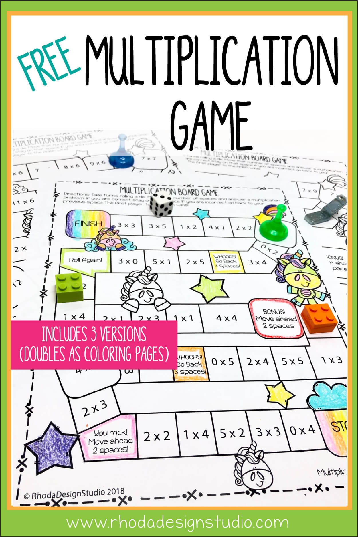 Easy To Use Free Multiplication Game Printables