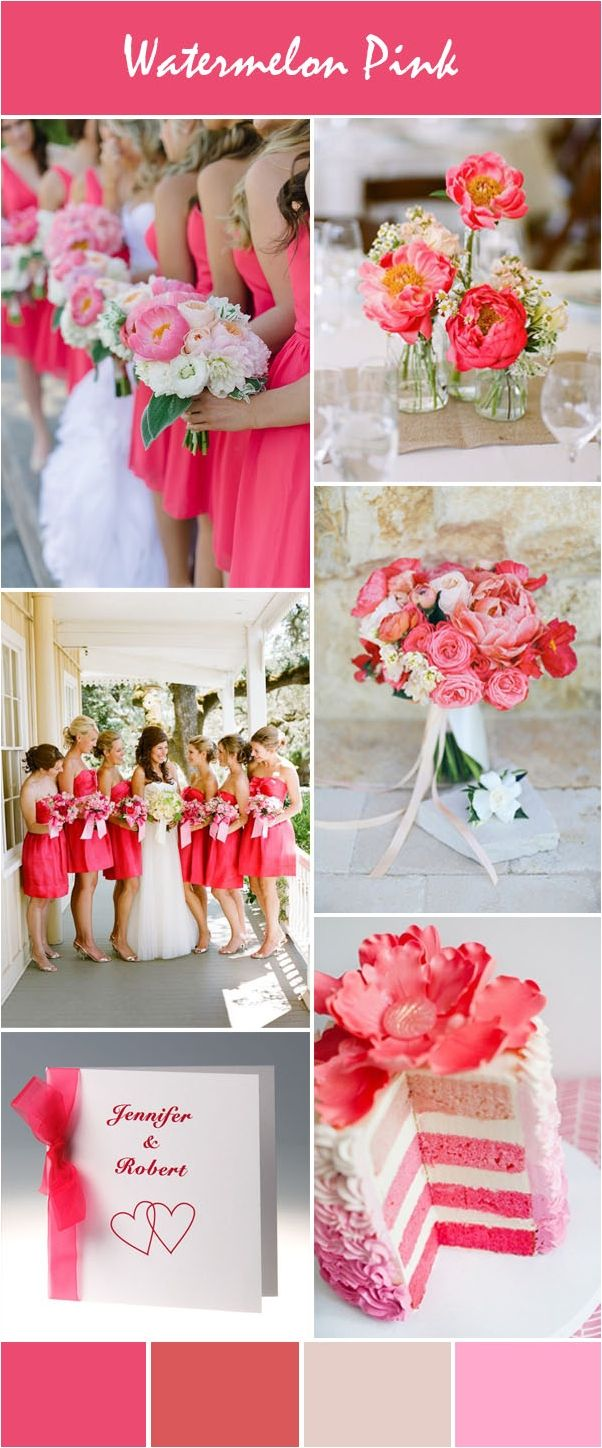 Wedding theme ideas by color  Soft And Vibrant Spring Wedding Color Inspirations  Spring wedding