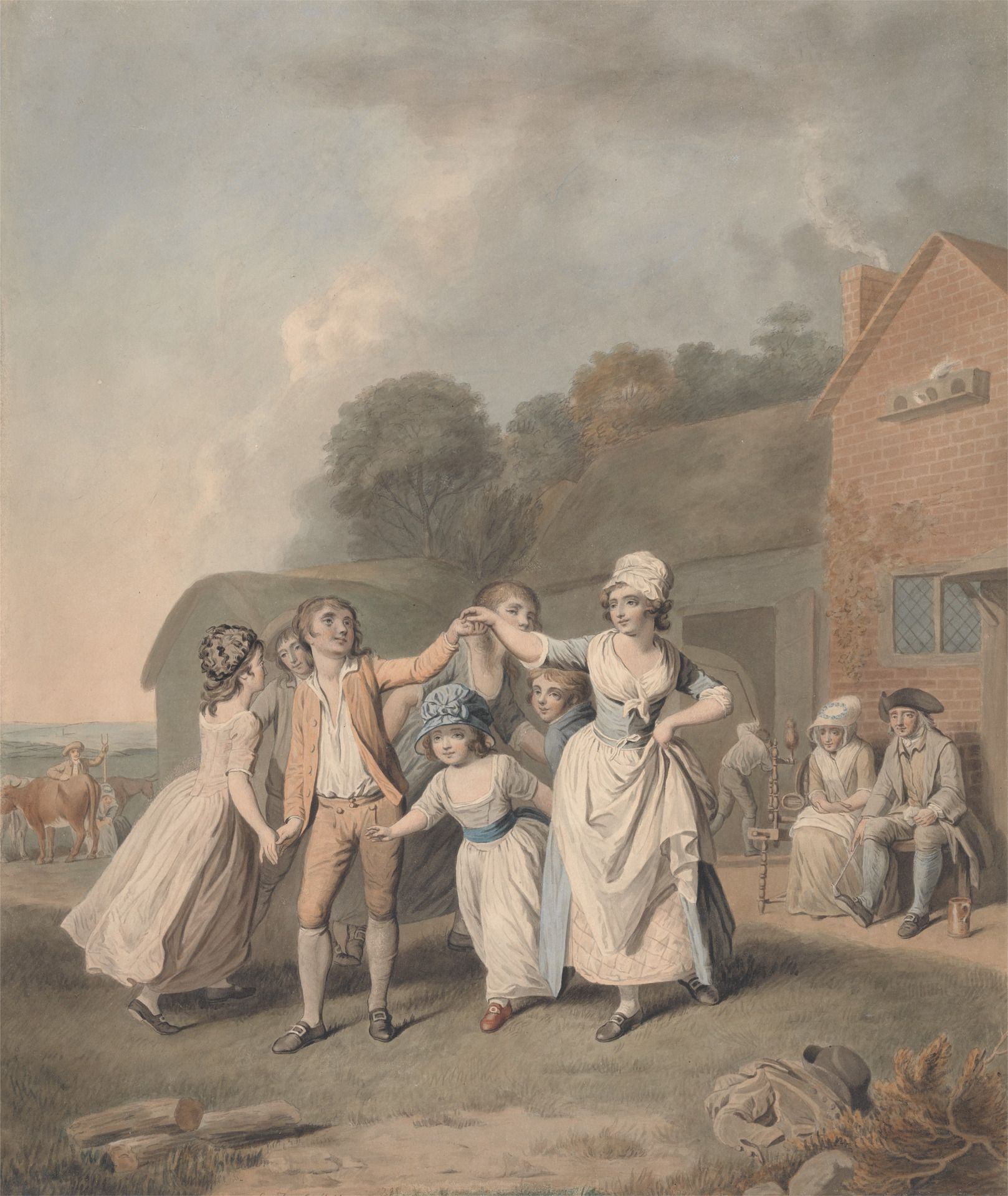 Children Dancing  by George Townly Stubbs  ca. 1798  Yale Center for British Art