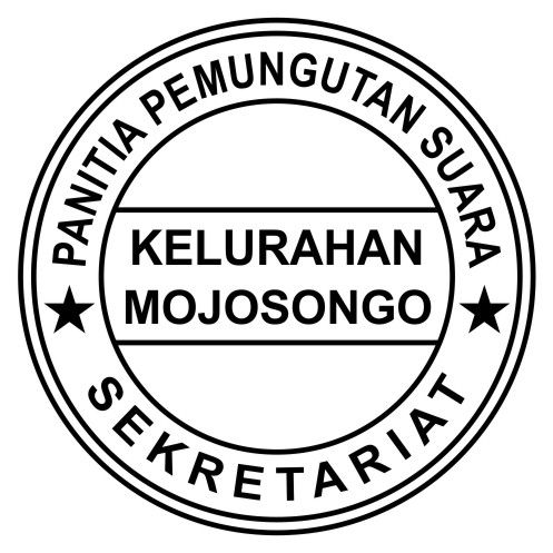 Contoh Design Cap Stempel Sekretariat Panitia Pemilihan Suara