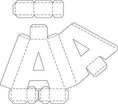 resultado de imagen para moldes de letras 3d grandes. Black Bedroom Furniture Sets. Home Design Ideas