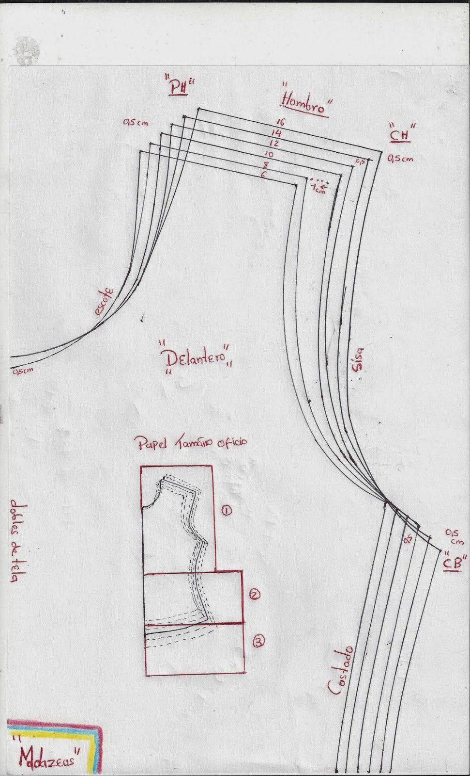 modazeus: blusa básica para niñas escalada para telas con elongacion ...