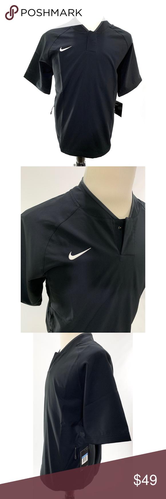 Nike Men S Baseball Coaches Batting Cage Jacket Nike Men Active Wear Shorts Clothes Design [ 1740 x 580 Pixel ]