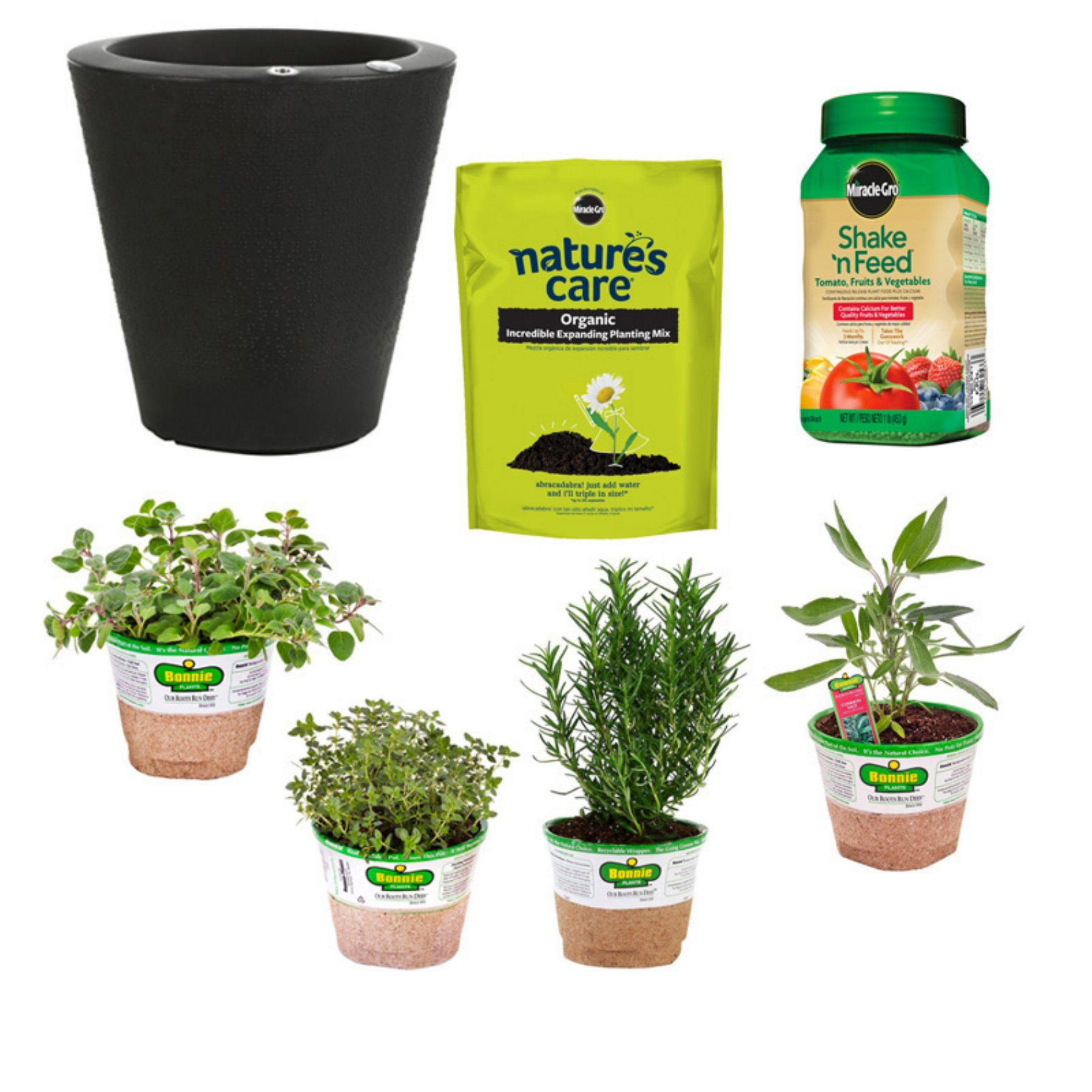 Bonnie Plants Outdoor Self Watering Grillers Garden Set  B505