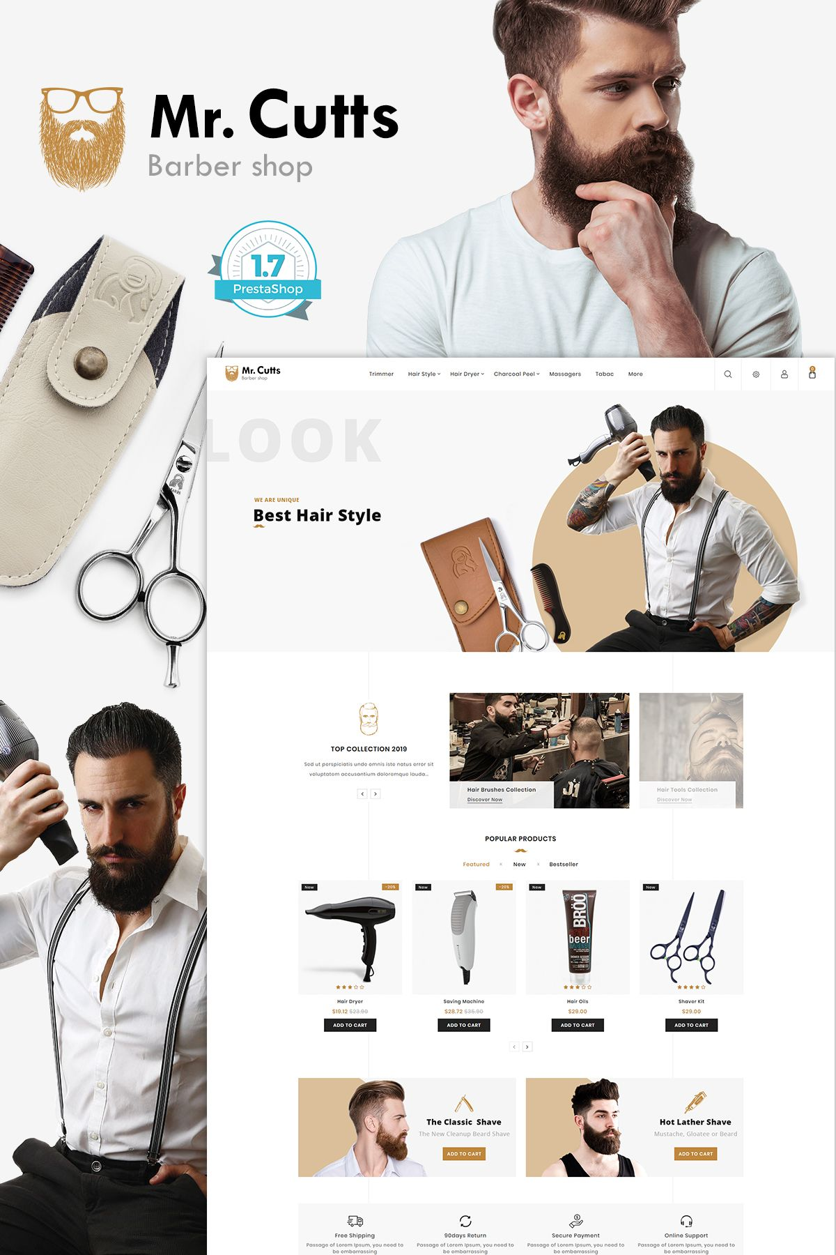 Mr.Cutts The Barber Store Template Barber store