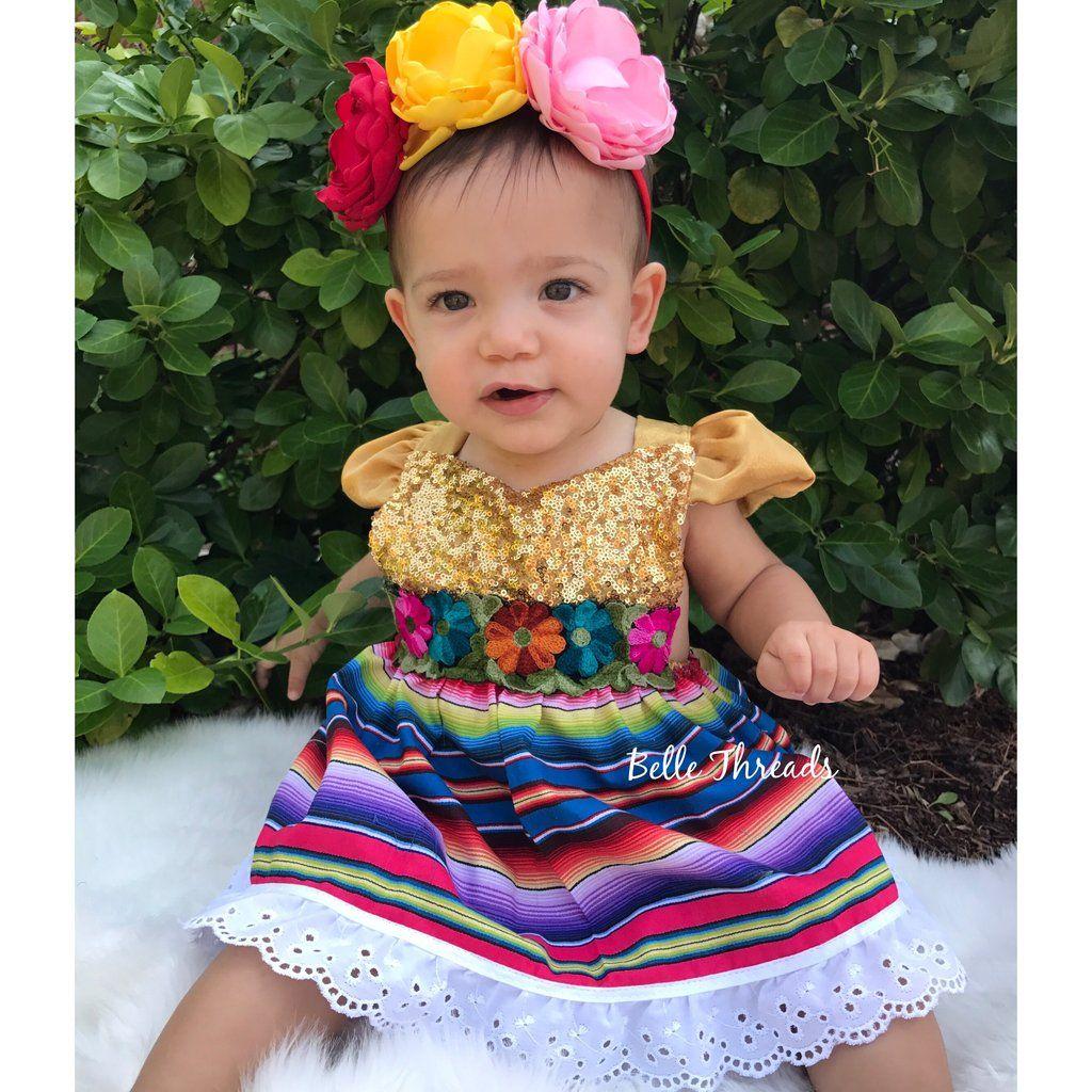a75c4e9b9582 LIMITED Sparkle Romper Cinco de Mayo Fiesta Dress Mexican Fiesta Dress –  Belle Threads