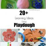 Playdough is a wonderful tool for teaching toddlers and preschoolers. Come see over 20 hands-on ideas for playing and learning with playdough.