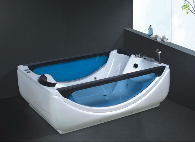Two Person Freestanding Bathtub Double Bathtub Adult Portable