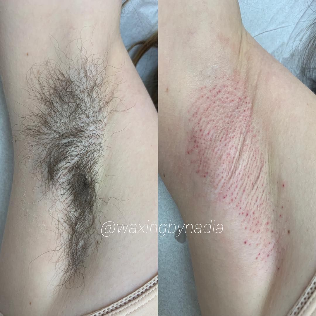 How long should your armpit hair be to wax