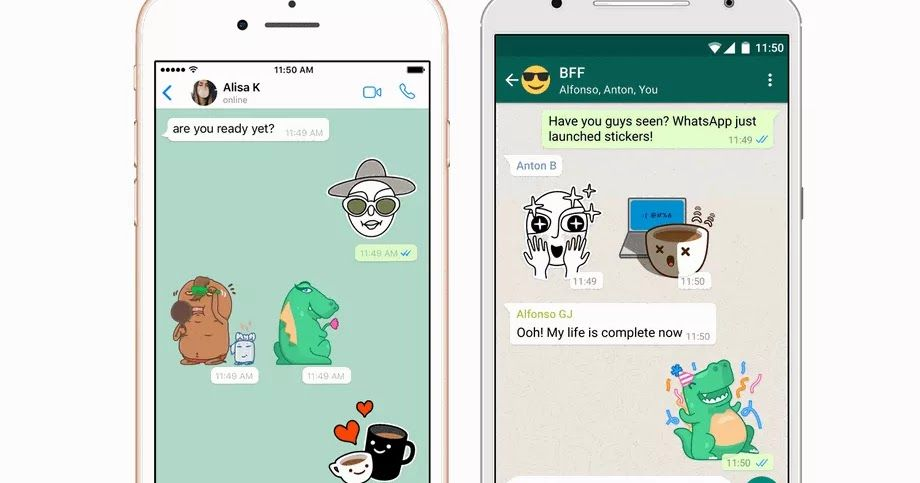 You Can Now Send Stickers From Whatsapp To Your Friends Like Facebook Messanger Sticker System By Using Stickers For Phone Gadgets Samsung Sticker App Stickers