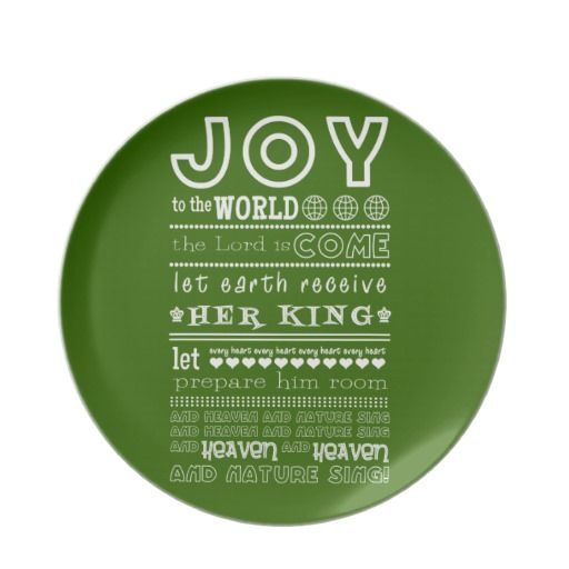 Joy to the World Christmas Plate
