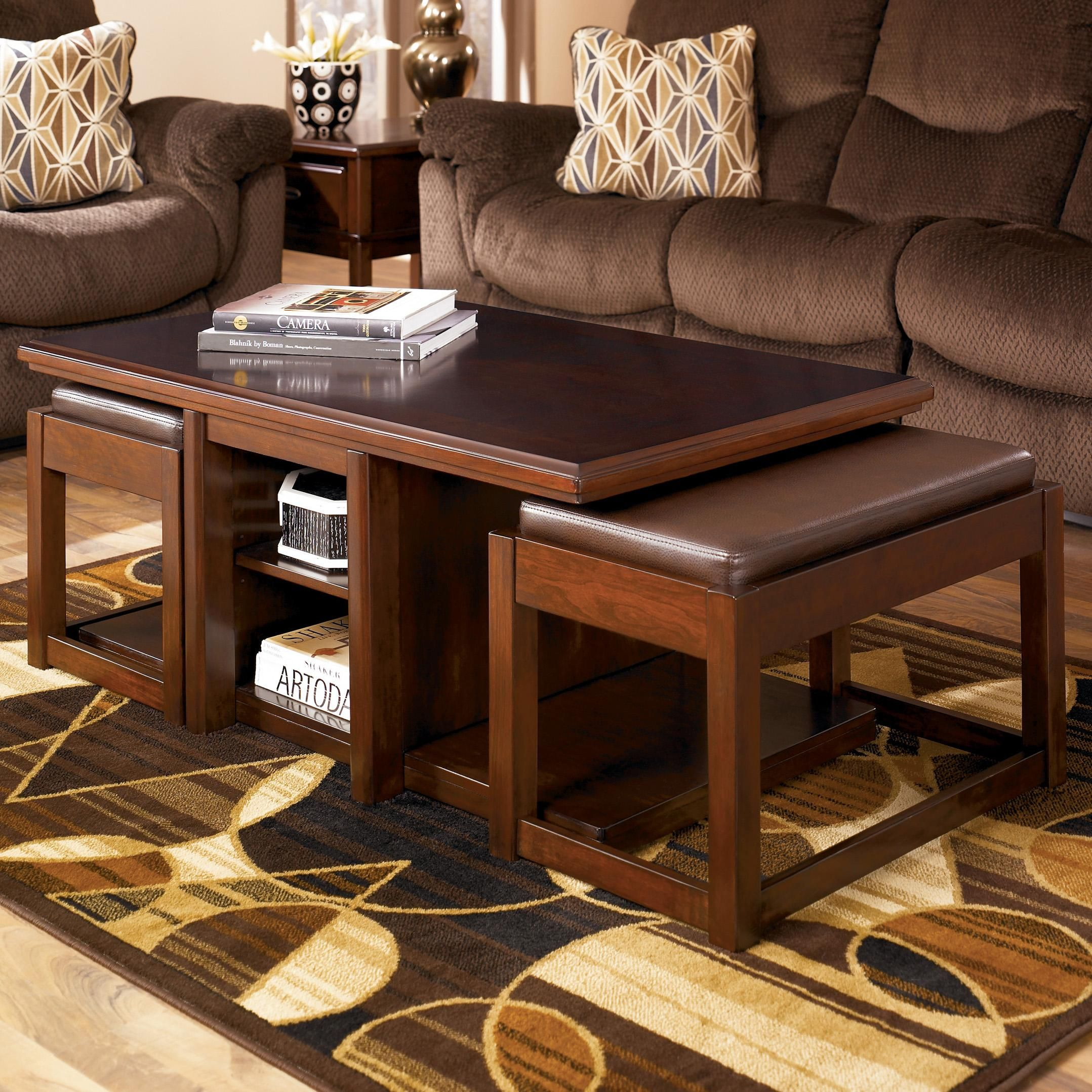 Item Not Found Stylish Coffee Table Coffee Table With Stools Ottoman In Living Room [ 2157 x 2157 Pixel ]