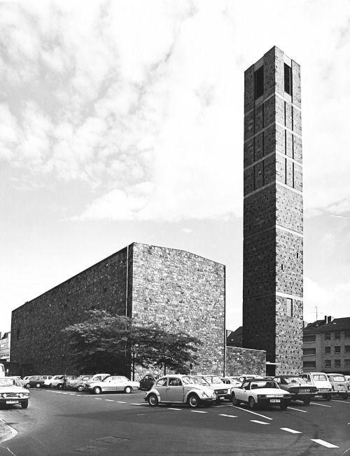 Architekt Düren church st 1951 56 in düren germany by rudolf schwarz