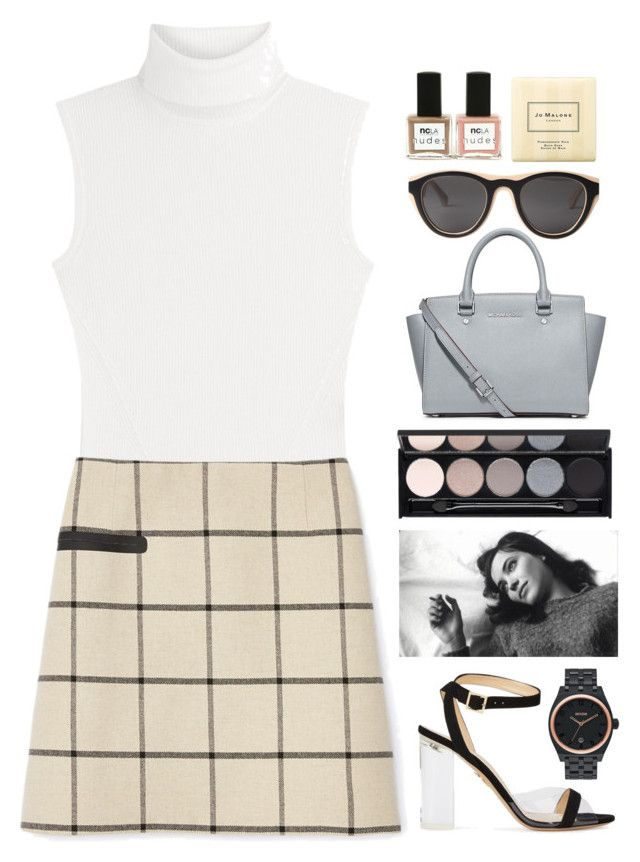 """""""blink of an eye"""" by tan-ara ❤ liked on Polyvore featuring Diane Von Furstenberg, Tory Burch, Charlotte Olympia, MICHAEL Michael Kors, Mykita, Nixon, ANNA, Witchery, ncLA and Jo Malone"""