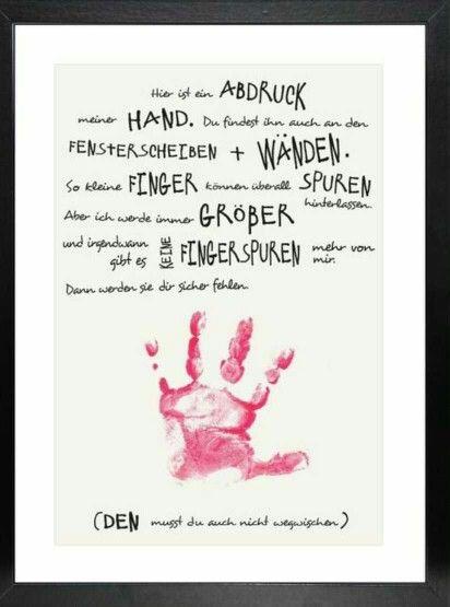 Handabdruck   Hand/Fußabdrücke - Bilder   Diy for kids ...