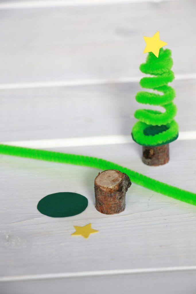 basteln mit pfeifenreinigern pfeifenreinigertannenbaum