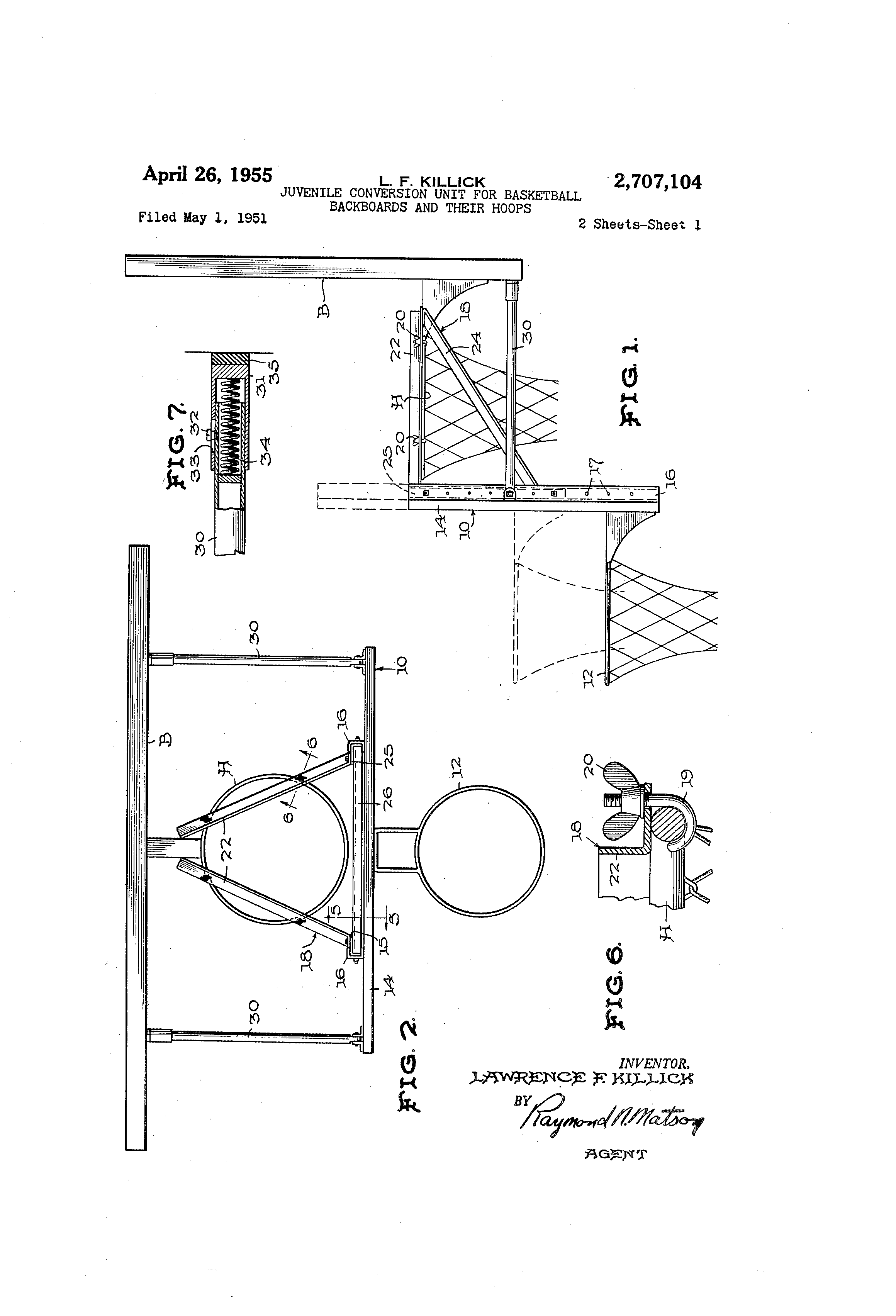 unit for basketball backboards and their hoops - Google Patents - Improve  your