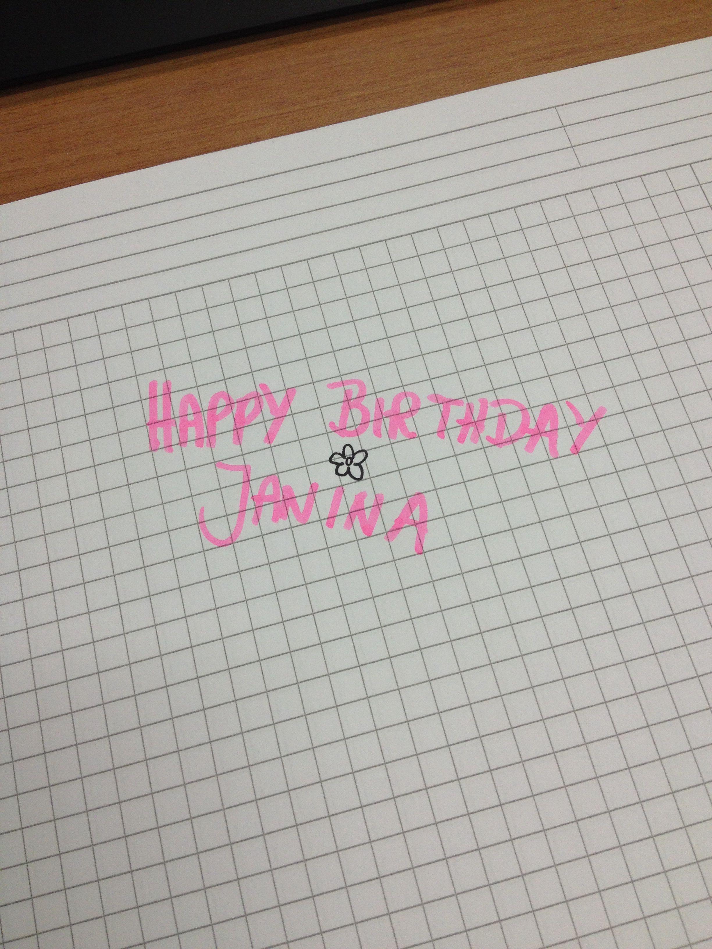 Happy Birthday!!!! Ich denk an Dich jmksternchen <3