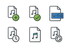 Audio Files Icons By Alpar Etele Meder In 2020 Audio Multimedia Icon
