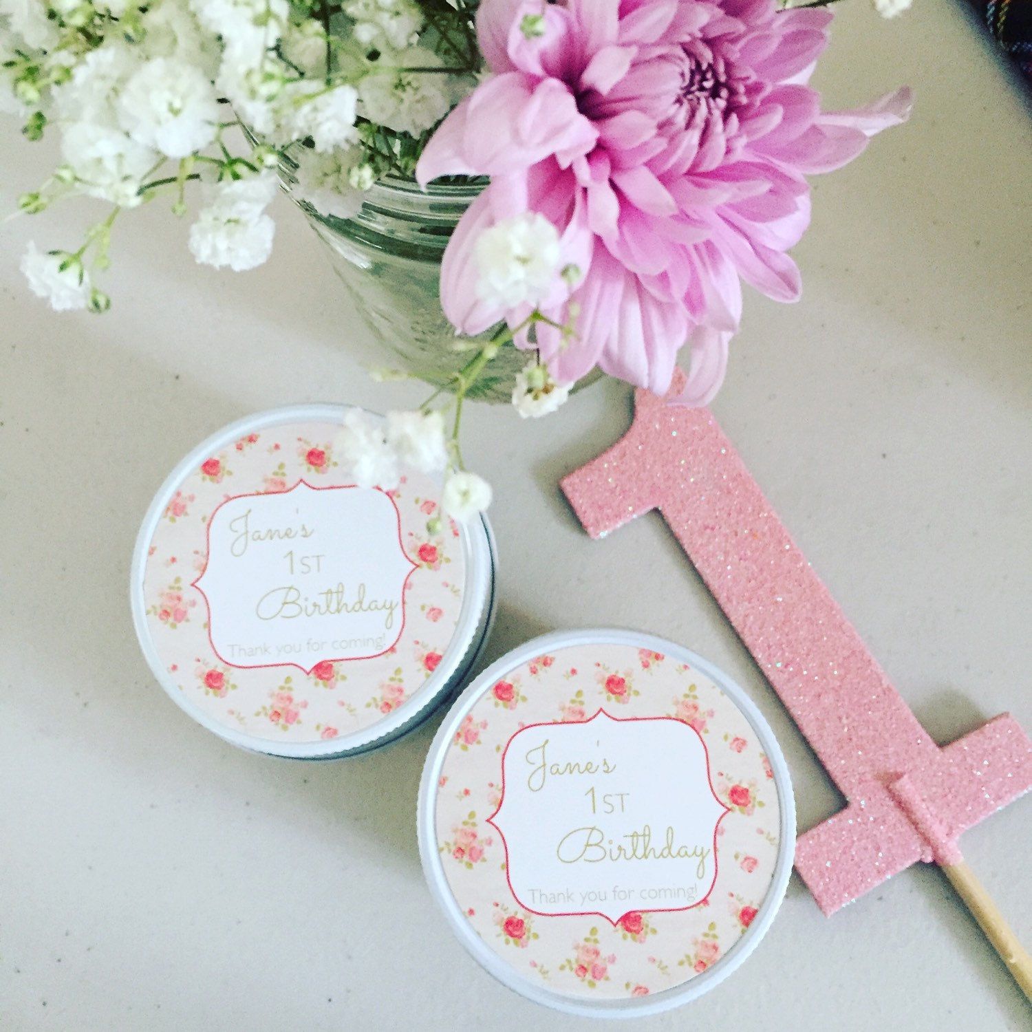 Blush and gold bridal shower favors / Set of 12 - 4 oz candle favors ...