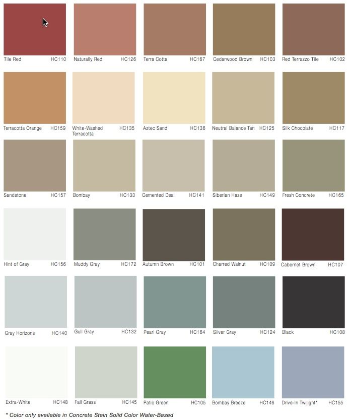 rustoleum restore color chart: Stained concrete solid color stains remodeling pinterest