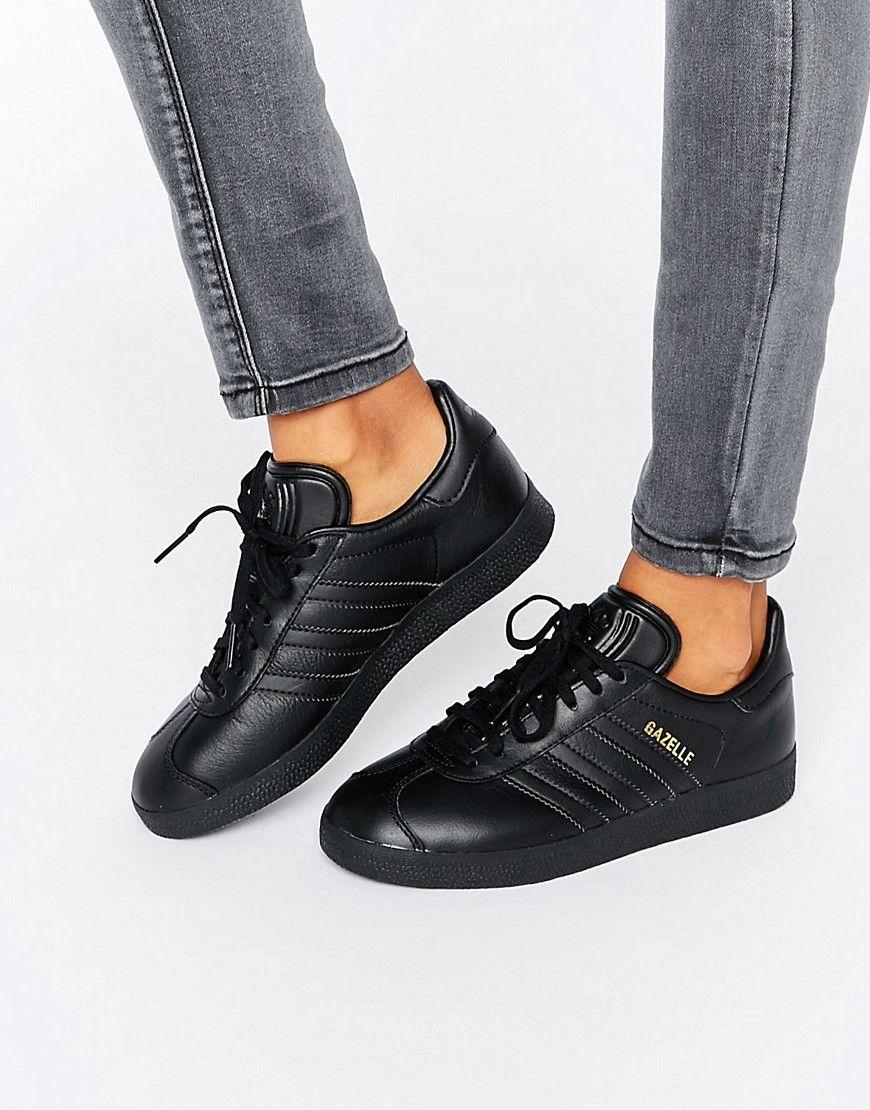 online store 0ab27 85ecc Image 1 of adidas Originals All Black Gazelle Sneakers Baskets Gazelle, Black  Gazelles, Adidas