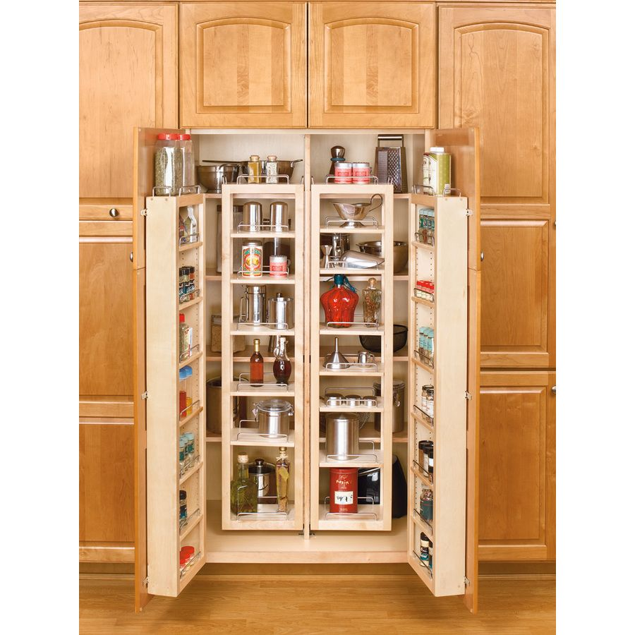 Shop Rev A Shelf 12 In W X 7 5 In D X 25 In H 1 Tier Wood Pull Out Cabinet Basket At Lowes Com Tall Kitchen Cabinets Pantry Cabinet Pantry Storage