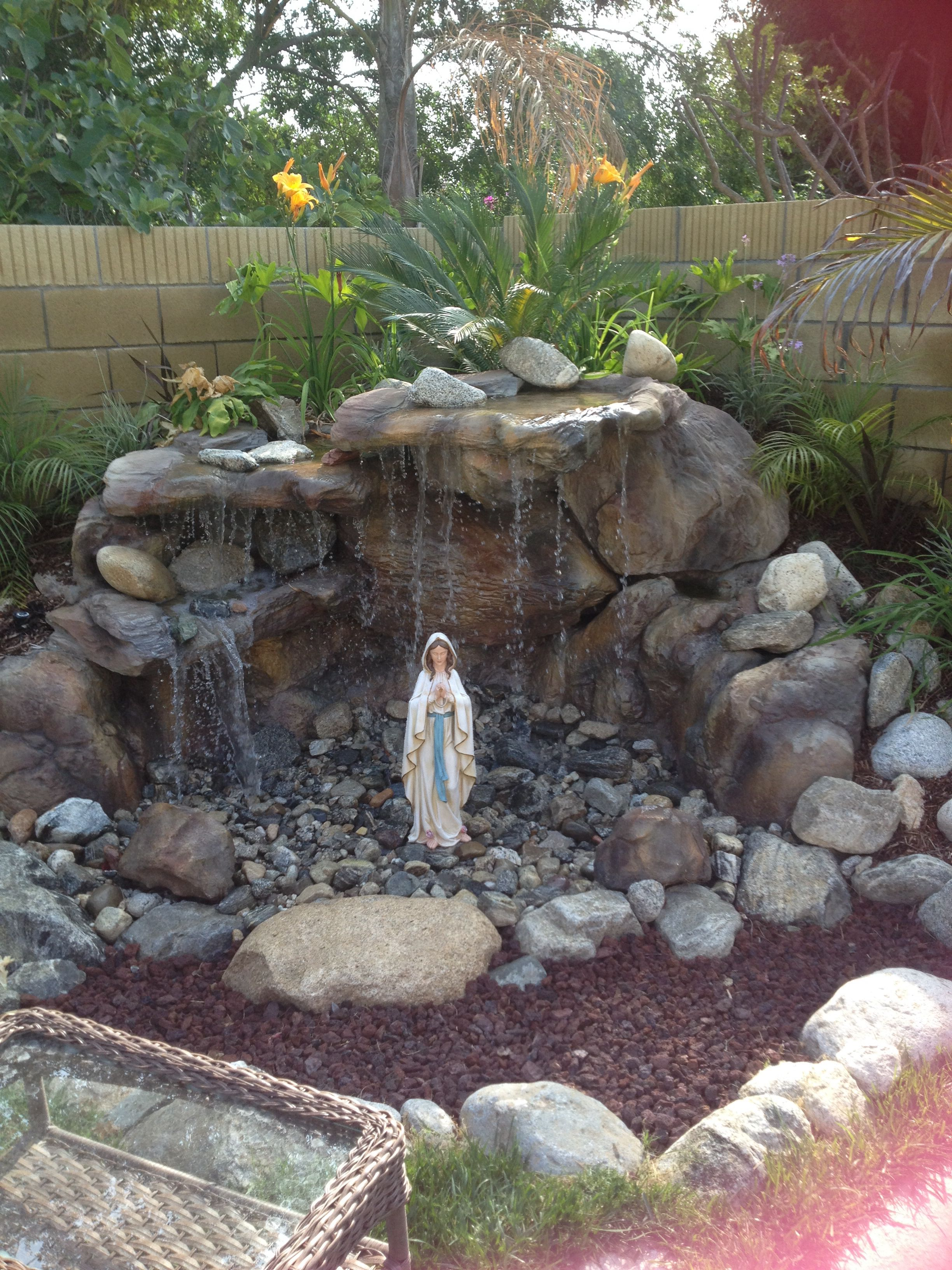 Backyard Mary grotto For the Home Pinterest