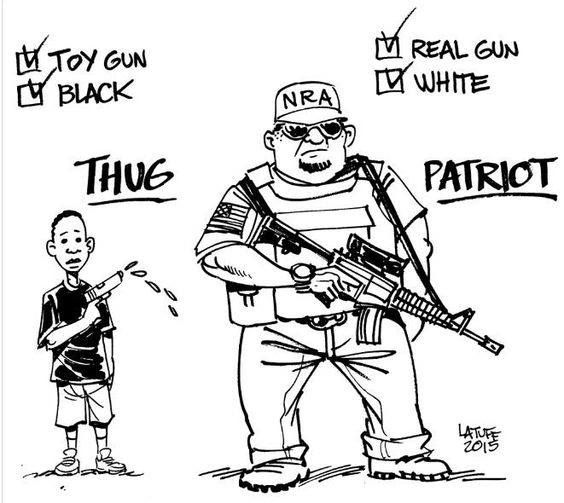 Political Cartoons End Guns