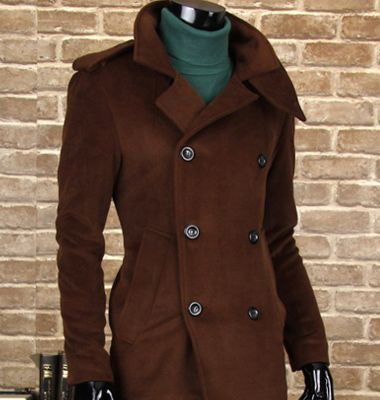 Hardy Amies - men's brown peacoat | Hit List | Pinterest | Hardy ...