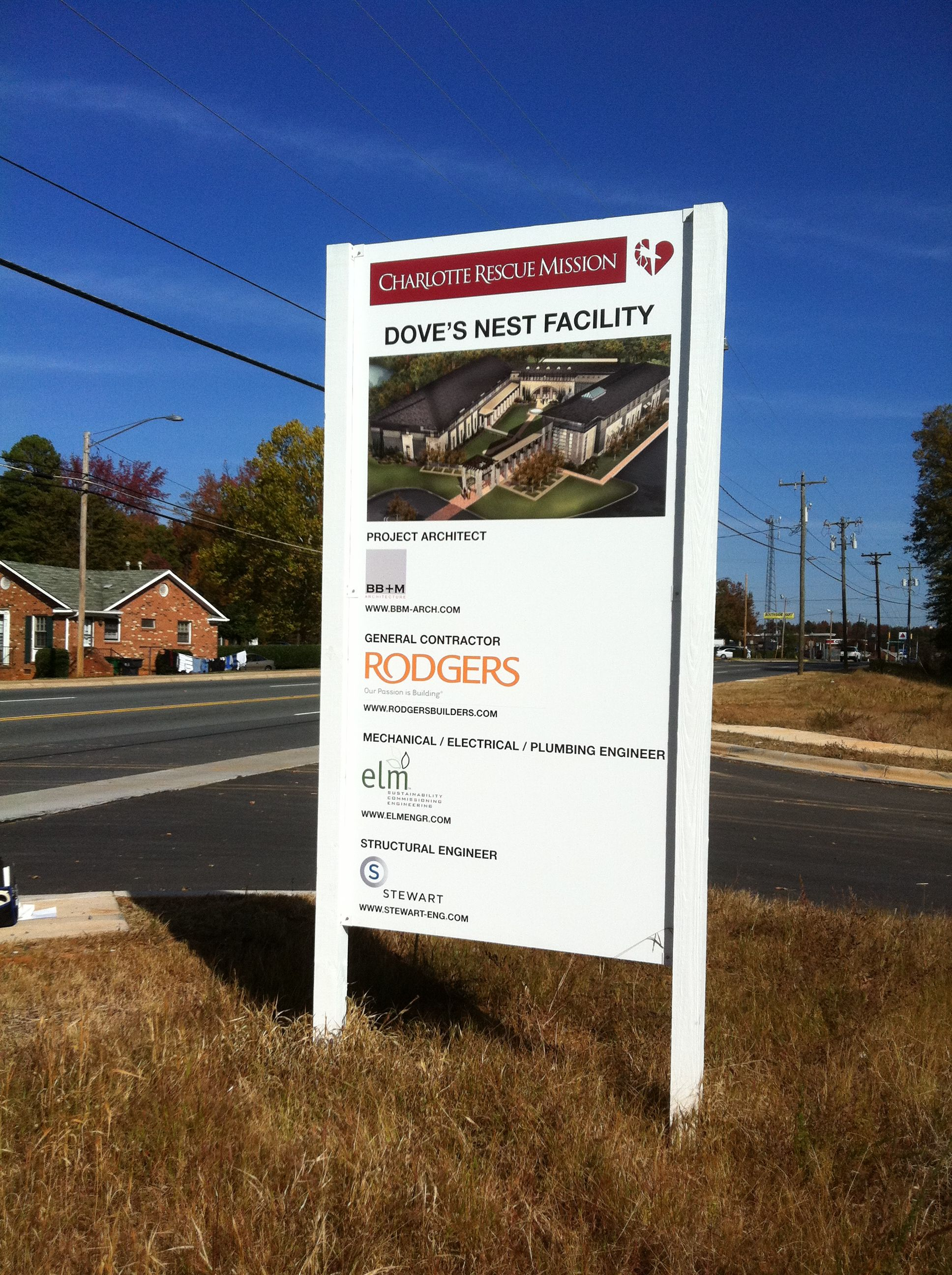 An example of our job sites and development signs we can
