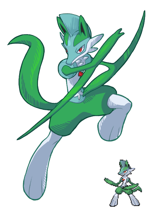 0o0 Gallade And Lucario Pokemon Fusion Pinterest