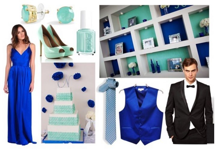 Sapphire Blue, Mint / Aqua, and Black Wedding Color Combination. Combo by Premiere Party Central.    http://www.austinpartycentral.com/#!__need-inspiration-main/photostackergallery0=0