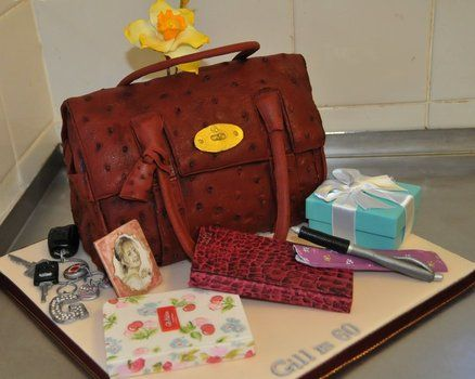Mulberry Handbag Cake  Cake by Calliicious