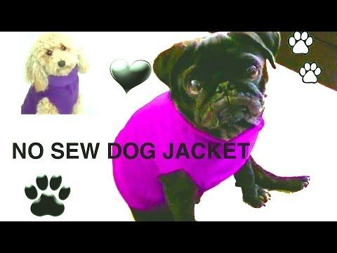 1790c902a NO SEW DOG JACKET - DIY Dog clothes using either old fleece ...