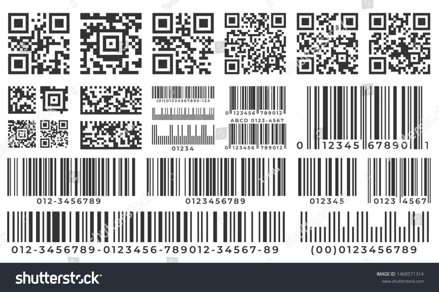 Barcodes Scan Bar Label Qr Code And Industrial Barcode Product Inventory Badge Codes Stripe Sticker And Package Bars Superma Icon Set Vector Coding Vector