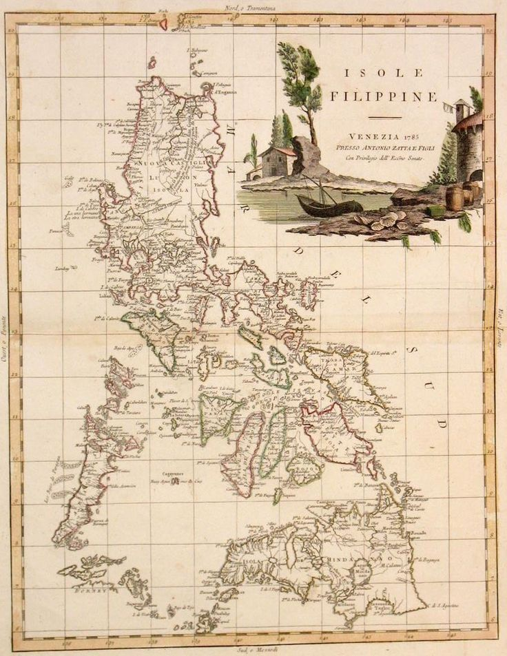 Old map of the Philippines during Spanish rule in 1785