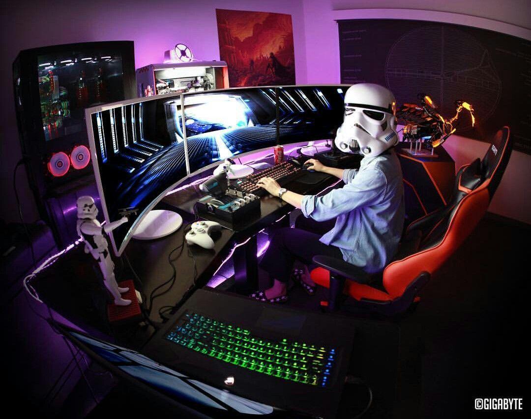 Ultimate Gaming Desk another cool link is heropackage nice   gaming room