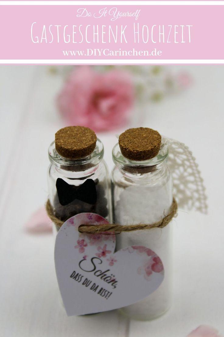 DIY Gastgeschenk Pfeffer und Salz für die Hochzeit einfach selber machen – Boda fotos
