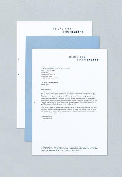 Zahnarzt Hauser Briefbogen | I ♥ Design | Print | Pinterest ...