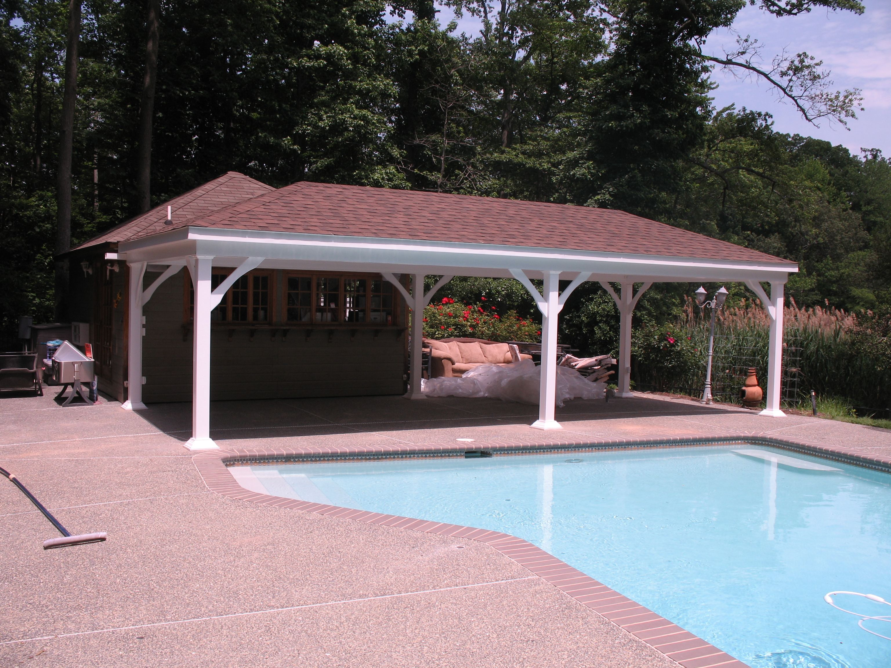 14' x 24' Estate poolside pavilion at homesteadstructures ... on Backyard Discovery Pavilion id=99155