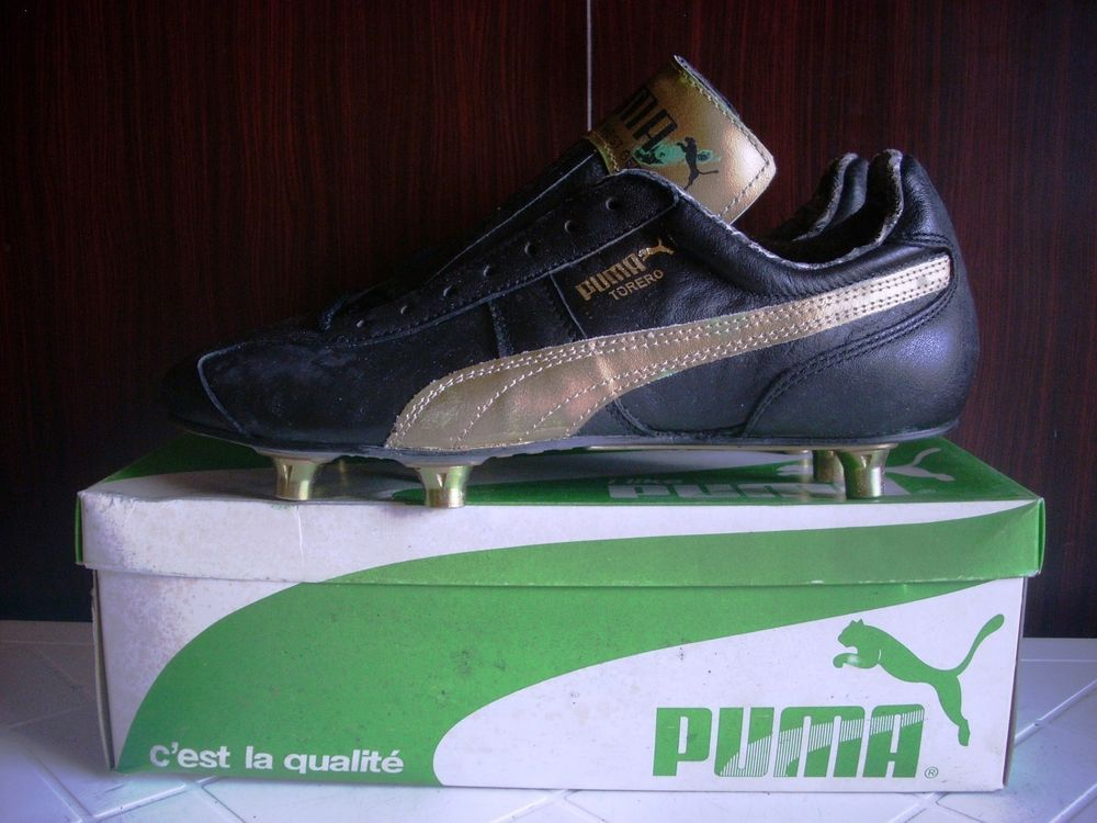 adf4a64b0bb6c5 Deadstock rare puma football boots torero 496 germany leather gold ...