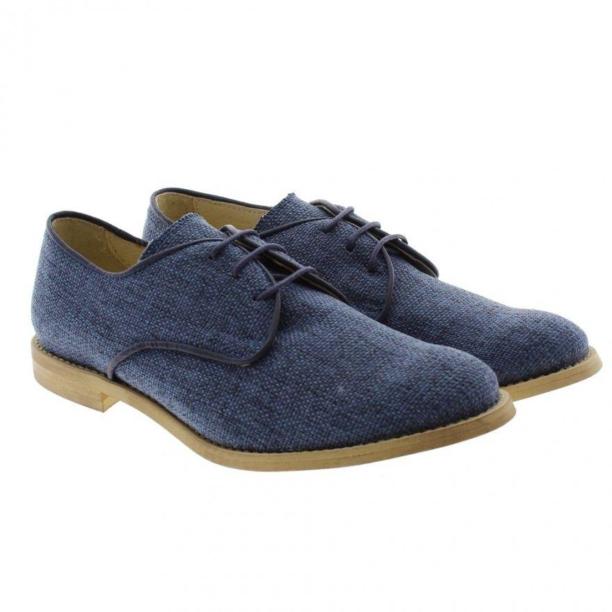 4c58771ae Zapato lino azul comunión Oca Loca 6093-04