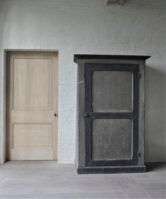 antique door + NO trim (steel jamb covered in plaster) - Antique Door + NO Trim (steel Jamb Covered In Plaster) + EUROPEAN