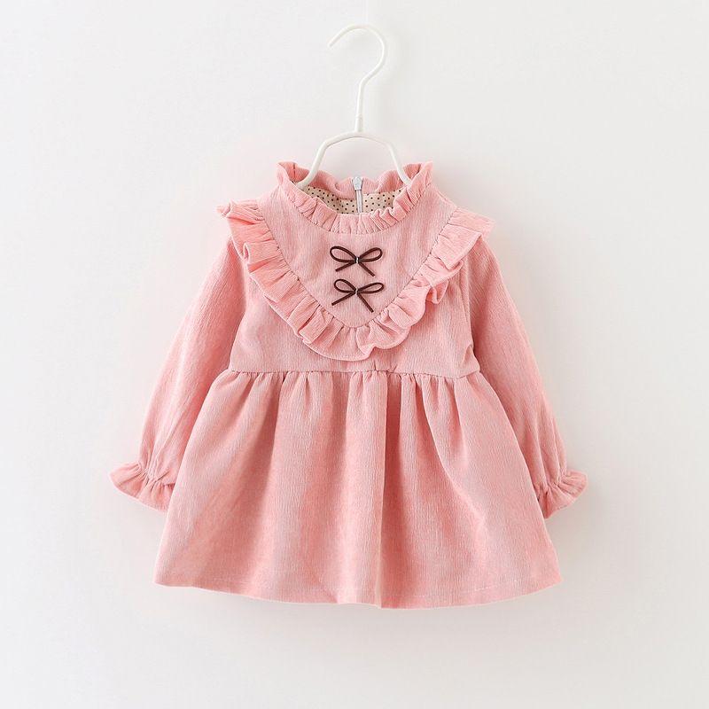 Vestido del bebé del otoño niñas infantiles vestidos de partido del ...