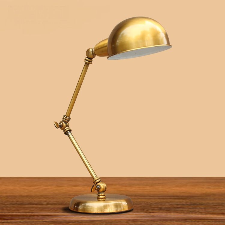 American Iron Table Light Fashion Retro Bronze Rocker Arm Table Lamp Factory Direct Hotel Bedroom Bedside Study Table Lamps Industrial Desk Lamp Desk Lamp Lamp